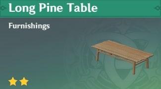 Furnishing Long Pine Table