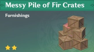 Furnishing Messy Pile Of Fir Crates