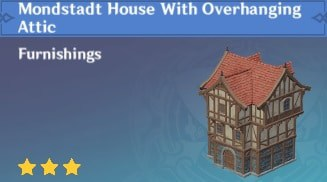 Mondstadt House With Overhanging Attic
