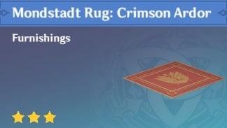 Mondstadt Rug Crimson Ardor