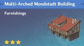 Furnishing Multi Arched Mondstadt Building