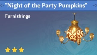 Furnishing Night Of The Party Pumpkins