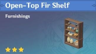 Furnishing Open Top Fir Shelf