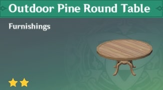 Furnishing Outdoor Pine Round Table