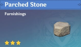 Furnishing Parched Stone
