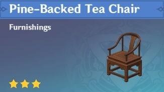 Furnishing Pine Backed Tea Chair