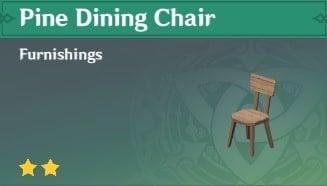 Furnishing Pine Dining Chair