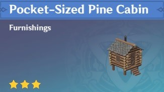Furnishing Pocket Sized Pine Cabin