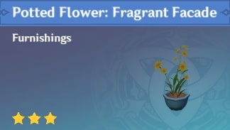 Furnishing Potted Flower Fragrant Facade