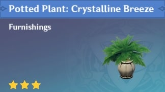 Potted Plant: Crystalline Breeze