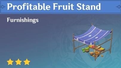 Furnishing Profitable Fruit Stand