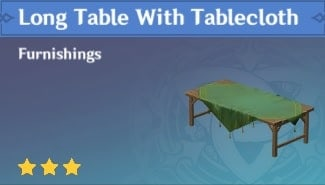 Furnishing Qingce Long Table With Tablecloth