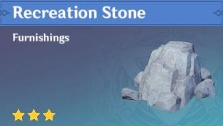 Furnishing Recreation Stone