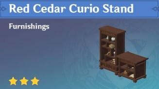 Furnishing Red Cedar Curio Stand