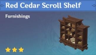 Red Cedar Scroll Shelf