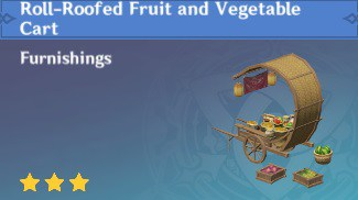 Roll-Roofed Fruit and Vegetable Cart