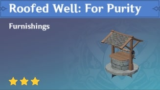 Furnishing Roofed Well: For Purity