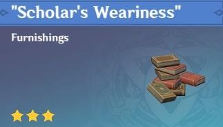 Scholar's Weariness