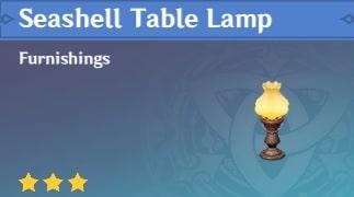 Seashell Table Lamp