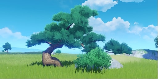 Furnishing Set Dialogue Twixt Ancient Tree And Rock
