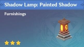 Furnishing Shadow Lamp Painted Shadow