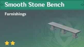 Furnishing Smooth Stone Bench