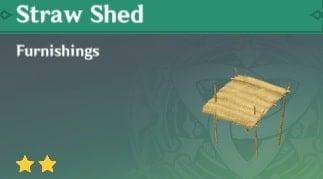 Furnishing Straw Shed