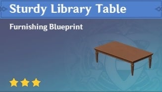 Sturdy Library Table