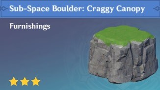 Furnishing Sub Space Boulder: Craggy Canopy
