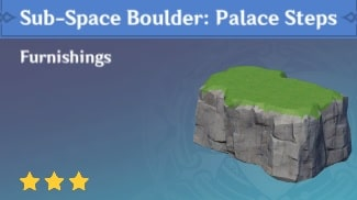 Furnishing Sub Space Boulder: Palace Steps