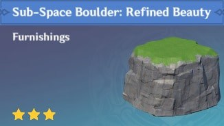 Furnishing Sub Space: Boulder Refined Beauty