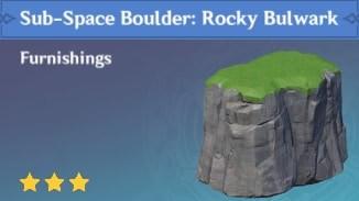 Furnishing Sub Space Boulder: Rocky Bulwark