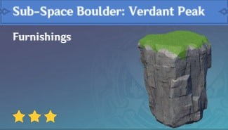 Furnishing Sub Space Boulder: Verdant Peak