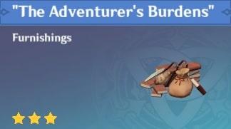 Furnishing The Adventurer's Burdens