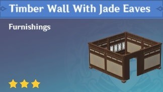 Furnishing Timber Wall With Jade Eaves