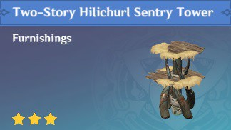 Furnishing Two Story Hilichurl Sentry Tower