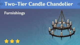 Furnishing Two Tier Candle Chandelier