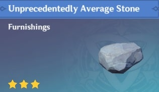 Furnishing Unprecedentedly Average Stone