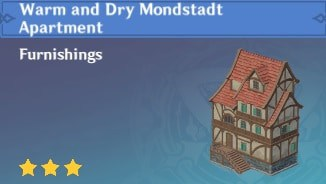 Furnishing Warm And Dry Mondstadt Apartment
