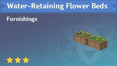 Furnishing Water Retaining Flower Beds