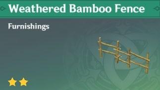 Furnishing Weathered Bamboo Fence