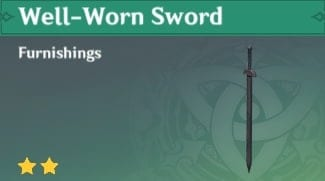 Furnishing Well-Worn Sword