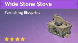 Furnishing Wide Stone Stove