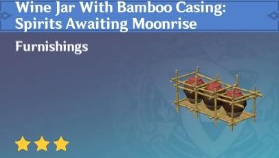 Wine Jar With Bamboo Casing: Spirits Awaiting Moonrise