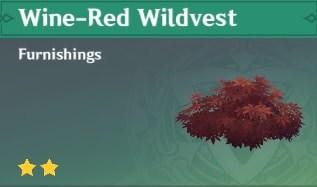 Furnishing Wine-Red Wildvest