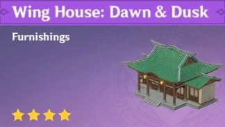 Furnishing Wing House Dawn & Dusk