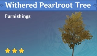 Furnishing Withered Pearlroot Tree