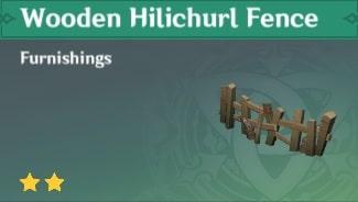 Furnishing Wooden Hilichurl Fence