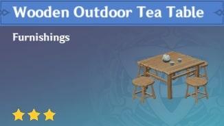 Furnishing Wooden Outdoor Tea Table
