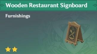 Furnishing Wooden Restaurant Signboard
